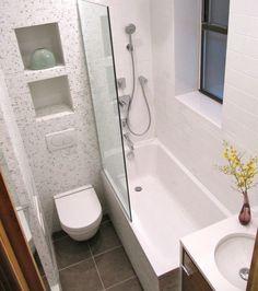 Фотография: Ванная в стиле Современный, Интерьер комнат, маленькая ванная комната, как оформить маленькую ванную комнату, как сделать маленькую ванную комнату комфортной – фото на InMyRoom.ru