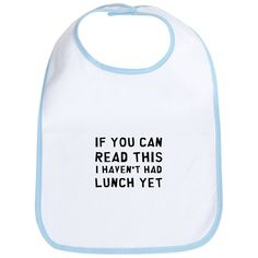 Lunch Bib on CafePress.com