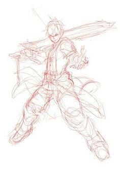 """Anime/ manga guy with sword """"come at me pose"""" reference Body Drawing, Drawing Base, Manga Drawing, Drawing Sketches, Art Drawings, Figure Drawing Reference, Art Reference Poses, Sketch Poses, Poses References"""