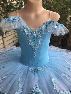 Hand painted flowers in shades of blue Tutu Costumes, Ballet Costumes, Angelina Ballerina, Blue Tutu, Diy Tutu, Nutcrackers, Ballet Beautiful, Painted Flowers, Disney Dresses