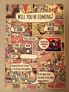Comic Book Invites