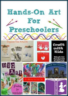 Hands-on art for Preschoolers on Mom's Library with Castle View Academy.com