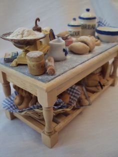 DOLLS HOUSE MINIATURES Bread for thought by LittleHouseAtPriory