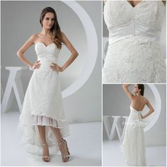 hi low wedding dresses | Trendy Design High Low Sweetheart Lace Wedding Dresses 2013
