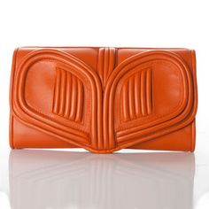 Heart Clutch Orange, $419, now featured on Fab.