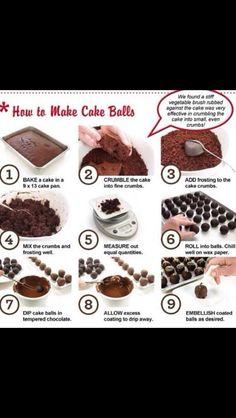 Easy cake pops