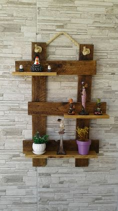 Haga estantes elegantes en madera vieja 🌴by orhan - Bahçe tasarım fikirleri - Pallet Home Decor, Diy Pallet Wall, Wooden Pallet Projects, Small Wood Projects, Pallet Crafts, Diy Pallet Furniture, Handmade Furniture, Home Decor Furniture, Wood Crafts