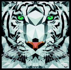 White Tiger - Low Poly #tiger #lowpoly