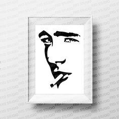 James Dean Silhouette Clip Art Image James Dean Face | Etsy Silhouette Clip Art, James Dean, Wall Decal Sticker, String Art, Art Images, Scrapbook, Face, Projects, Etsy