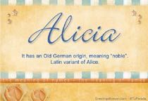 """Old German meaning of Alicia is """"Noble"""" Meaning Of My Name, Name Origins, Daughter Of Zeus, Family Genealogy, Baby Girl Names, Printable Cards, Sticker Paper, Ecards, Daughters"""