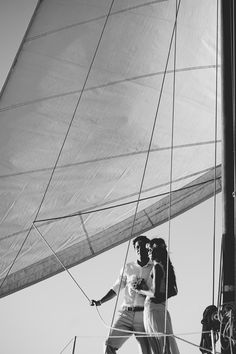 Bride and groom sailboat