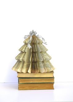 Vintage Book CHRISTMAS TREE