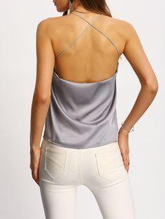 Shop Crisscross Back Cami Top online. SheIn offers Crisscross Back Cami Top & more to fit your fashionable needs.