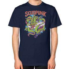 Godlike Octopus Unisex T-Shirt (on man)