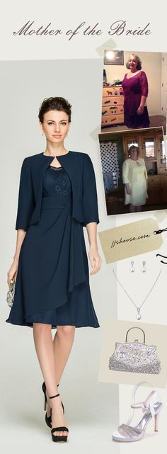 Classic & Timeless Mother of the Bride & Groom Dress, get your complete outfit custom made with us today! #motherofthebride&groom