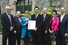 Stuart Burgess, Managing Director of Investors in People New Zealand, presenting the Gold Accreditation Certificate to Canterbury Museum.