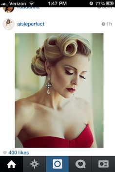 Old Hollywood glamour updo