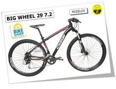 Só na BIKE SHOP OLINDA !!! Bicicleta OGGI Big Wheel 7.2  Características da Bicicleta: - Quadro em alumínio 6061 T6; - Suspensão Rock Shox XC28 TK29 com trava no garfo; - Pedivela Shimano Alivio M430 44x32x22d; - Câmbio Traseiro Shimano Alivio M430 9 Velocidades; - Câmbio Dianteiro Shimano Alívio; - 27 Velocidades; - Pneus Kenda Small Block Eight de KEVLAR; - Peso Aproximado de 12.990 kg; - Selo Ouro de Certificação da Shimano.