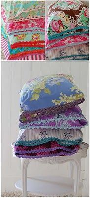 top two sets of pillowcases - love the styles - love the colors - not so uch the bottom stack :(