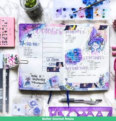 Super ideas for art journal ideas diy life Bullet Journal Planner, Bullet Journal Notes, Bullet Journal Spread, Bullet Journal Layout, Bullet Journal Ideas Pages, Bullet Journal Inspiration, Art Journal Pages, Creative Journal, Scrapbook Journal
