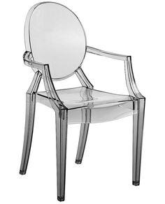 """Cadeira Acrilico Com Braço - """"Esta Cadeira Ghost Louis Acrílico Com Braço, inspirada no designer Philippe Starck, que traz influência clássica francesa é elegância pura para os ambientes! Dá um show de design e qualidade."""""""