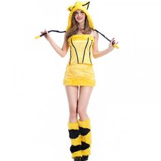New Arrival Anime Cute Pikachu Cosplay Halloween Costume Performance Cosplay  Costume Exotic Clothes Hot Sale b4622bea734c