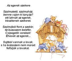 AZ EGEREK SZEKERE Stories For Kids, Kindergarten, Poems, Stories For Children, Poetry, Kindergartens, Verses, Preschool, Preschools