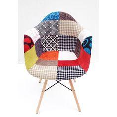 Cadeira Charles Eames Patchwork Base Madeira - 19100 @ SunHouse