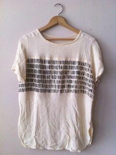 lauren kemp: DIY: hand-painted tribal T-shirt (on etsy)