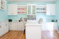 A Place for Everything - A Colorful Craft Room by California Closets of Indianapolis @erinlynn0