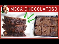 BROWNIE EN 4 PASOS (con trucos) - YouTube Mini Brownies, Chocolate Brownies, Pan Dulce, Bakery, Low Carb, Sweets, Cookies, Desserts, Yuri