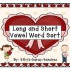 This is a long and short vowel word sort.  Students choose word cards, read them, and sort them on to the corresponding sorting mat.  The set inclu...