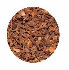 """""""Té Rojo Chocolate"""" Té rojo Pu-Erh con trozos de chocolate. 7€ / 100 gr."""