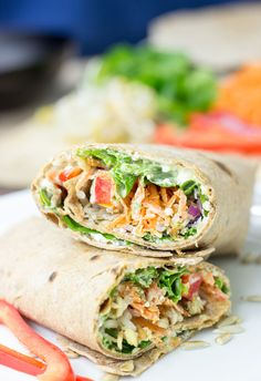 Tangy Veggie Wrap by hurrythefoodup: For The Ultimate Picnic #Wrap #Vegetarian #Healthy