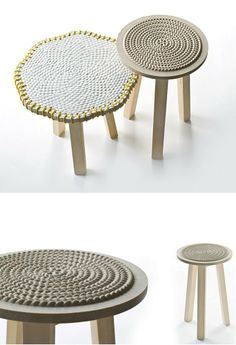 Marble stool / coffee table NAT(F)USE by Budri | #design Patricia Urquiola