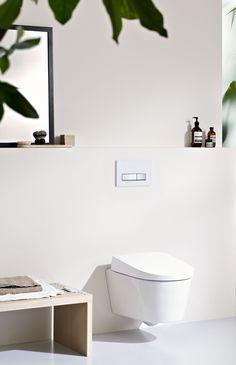Geberit AquaClean douchewc: de wc die uw onderlichaam met water reinigt.