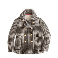 J.Crew - Girls' tweed peacoat