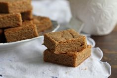 Ginger Chai Blondies-You will NOT regret adding these to your cookie tray this Christmas!  OutSTANDING!!!