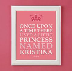 Once Upon A Time Personalized Princess Art by mytinytotcreative, $15.00