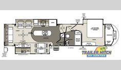 Fifth Wheel Trailers, Forest River Rv, 5th Wheels, Trailer Hitch, Floor Plans, Floor Plan Drawing, House Floor Plans