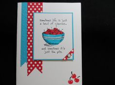 Giggle Greetings card #stampin' up! #cherries