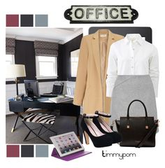 """""""Work..."""" by timmypom ❤ liked on Polyvore featuring Lillian August, Miss Selfridge, rag & bone, Ted Baker, M-Edge and HomArt"""
