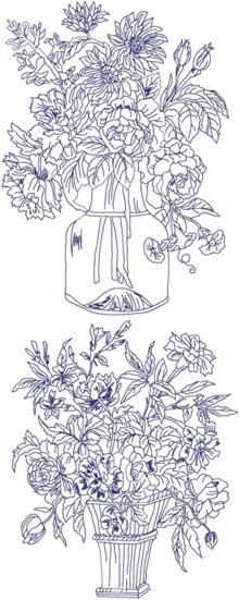 Set of 12 Machine Embroidery Designs