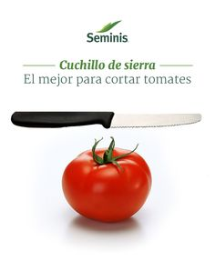 #Cuchillo para partir #tomates. Un cuchillo de sierra es perfecto para rebanar tus tomates. #Seminis #Tip
