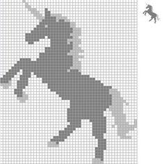 Unicorn cross stitch Unicórnio - Ponto cruz