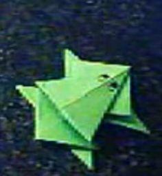 Rana de papel. Papiroflexia