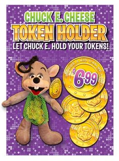 Our limited edition token holder is perfect for holding your goodies!