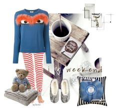 """Comfy Home Wear"" by ibinka ❤ liked on Polyvore featuring Sleepy Jones, Pillow Decor, H&M, Fendi, Eichholtz and Lexington"
