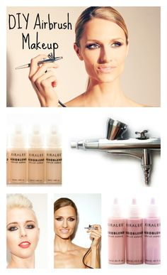DIY Airbrush Makeup. Airbrush foundation and blush with Aeroblend for flawless & natural looking skin.
