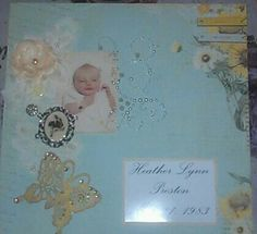 Baby page scrapbook